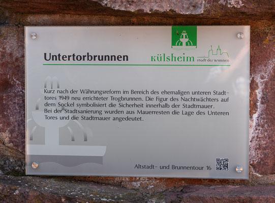 Info zum Untertorbrunnen, Külsheim, TBB