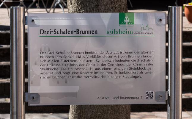 Info zum Drei-Schalen-Brunnen, Külsheim, TBB
