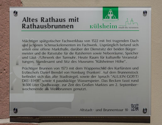 Info zum Rathausbrunnen, Külsheim, TBB