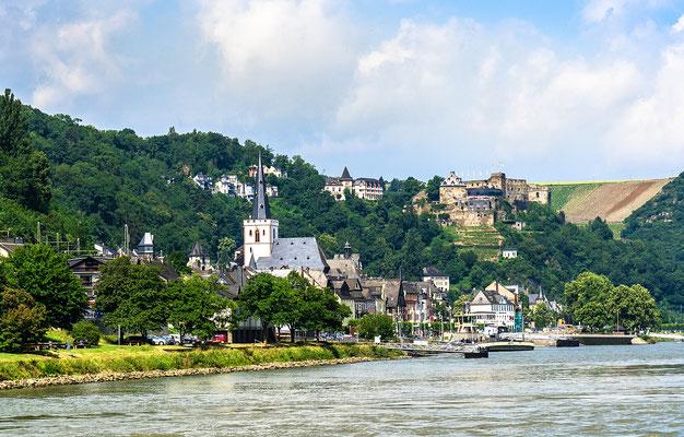 St. Goar mit der Burg Rheinfels