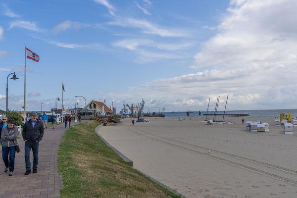 Der Badestrand von Hörnum liegt im südlichen Teil der Insel Sylt.
