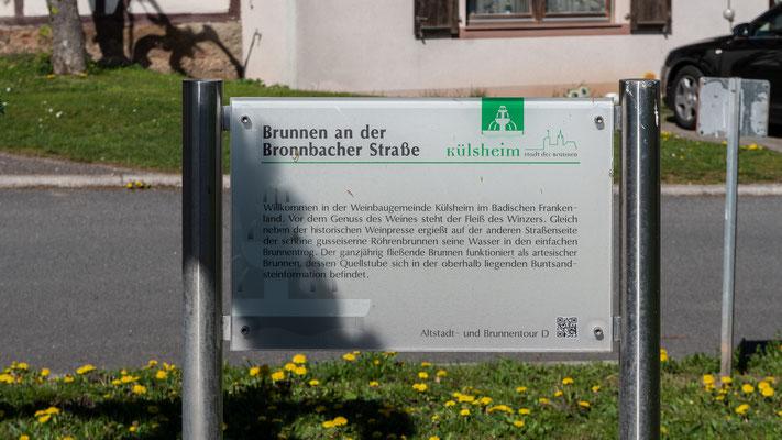 Info zum Brunnen an der Bronnbacher Straße, Külsheim, TBB