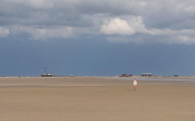 Blick auf den nördlichen Teil der Sandbank