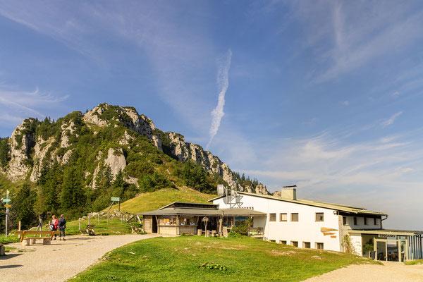 Die Bergstation der Kampenwandseilbahn