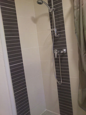 Fonctionnelle, la douche!