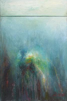 LUMIERE -  diptyque - 120 x 81  (huile sur toile )
