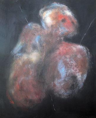 SANS TITRE N° 1 - série introspection  80 x 65  ( huile  sur toile )