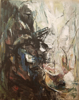 AMBIVALENCE - série introspection - 100 x 80 ( acrylique sur toile )
