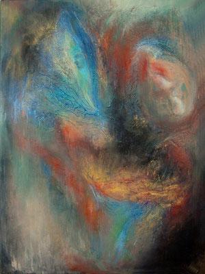 SANS TITRE : série  introspection  80 x 60  (huile sur toile)