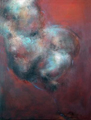 SANS TITRE N°2 - série introspection - 80 x 60 ( matière - acrylique sur toile )