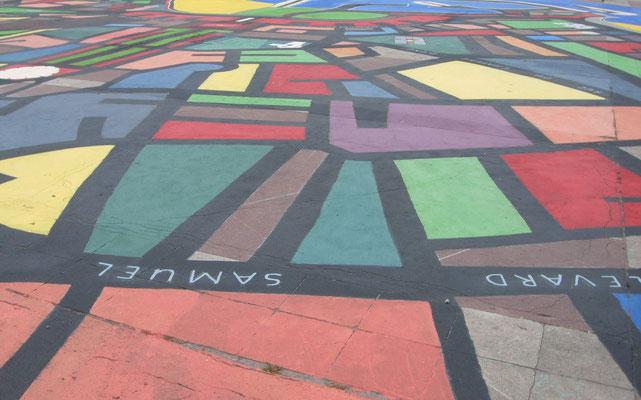 Le MANDALA représente le plan de la ville de ROYAN