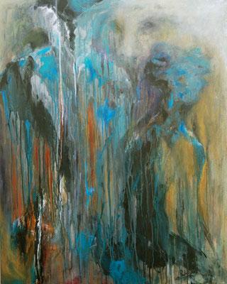 MALEFICE - série introspection 100 x 80  (acrylique sur toile )
