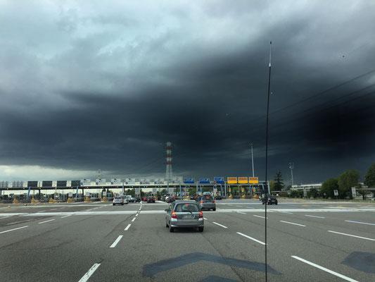 Starkregen in der Poebene bei Turin