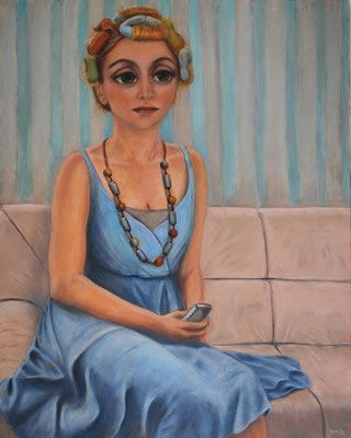 Girl in Curlers, 2010, oil on canvas, 100x80 cm