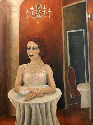 Im Cafehaus, 2007, Öl auf Leinwand, 160x120 cm