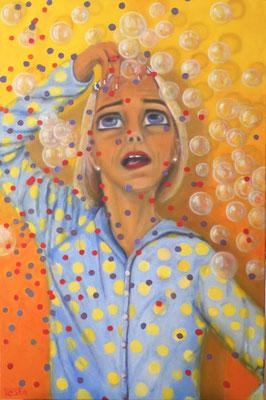 Der Selbstschreck, 2017, Öl auf Leinwand, 90x60 cm