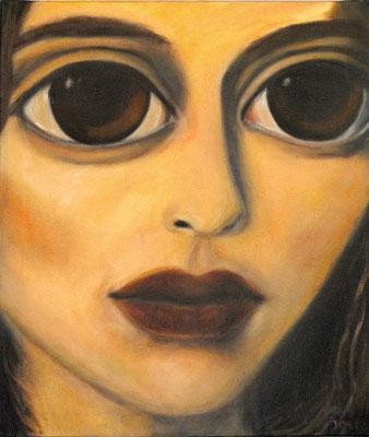 Gesicht Mädchen, 2011, Öl auf Leinwand, 70x60 cm