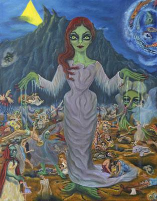 The demons, 2015/2016, oil on canvas, 180x140 cm