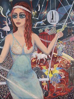 Zirkusmädchen, 2013, Öl auf Leinwand, 160x120 cm