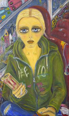 The trip, 2015, oil on canvas, 100x60 cm