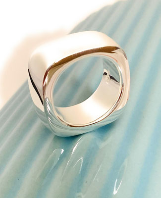 """Silver Ring """"Square"""" - for him and her"""