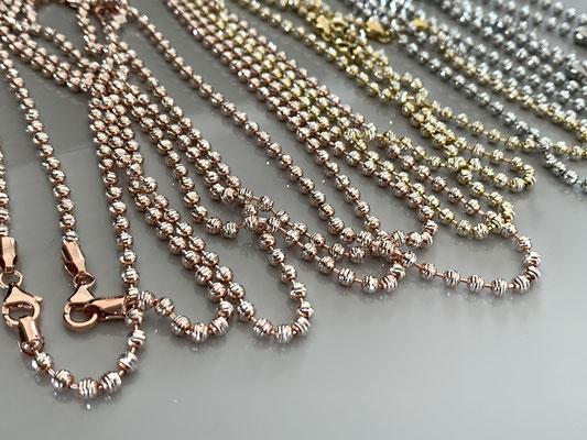 Sparkle Chain und Sparkle mini Chain aus recycel 925 Silber mit Funkeleffekt