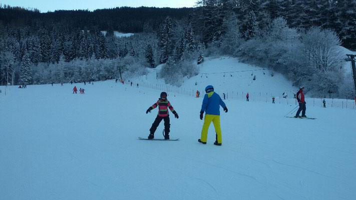 Skikurs mit Philipp und Felix