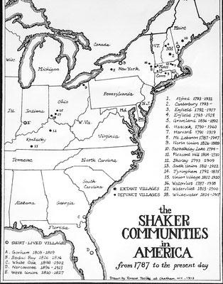 Verbreitung der Shaker