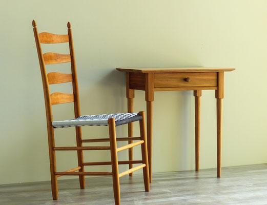 Sprossenstuhl und Shakerstand