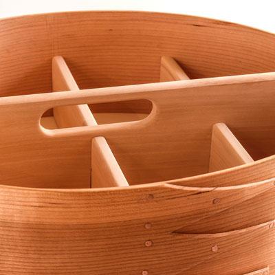 Unterteilung in einer Näh-box