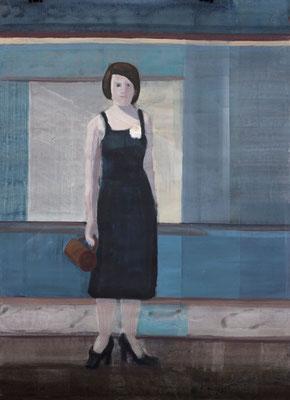 Schwester der Braut, 2013, Malerei auf Papier, 86 x 121 cm