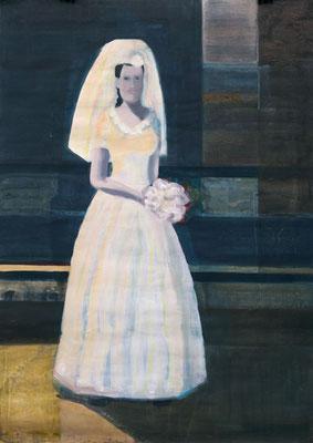 Braut, 2013, Malerei auf Papier, 86 x 121 cm