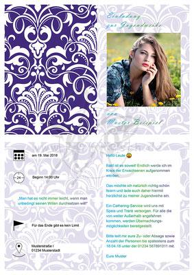 Einladungskarte - Jugendweihe