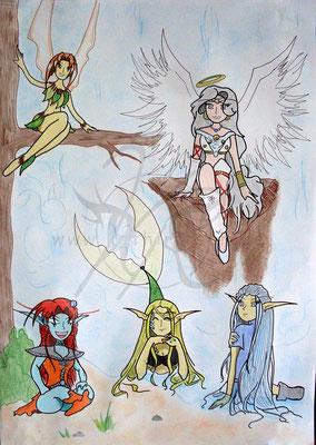 MAZAC - Meliface, Angel, Zyzilla, Alandra und Chisille