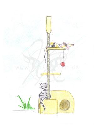 Katzen - Kratzbaum