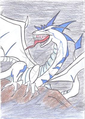 Blue-Write Dragon