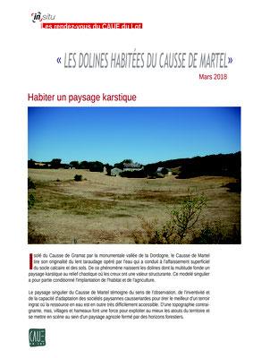 Habiter un paysage karstique - Mars 2018
