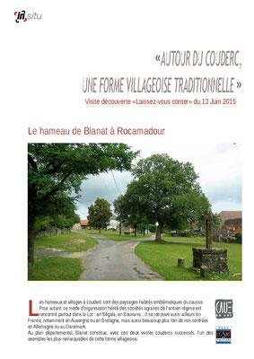 Le hameau de Blanat à Rocamadour - Juin 2015