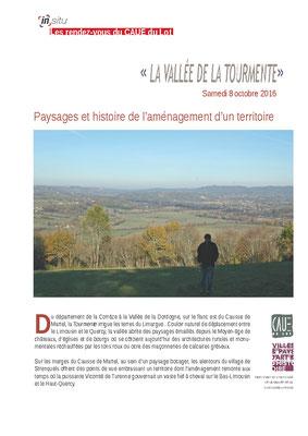 Paysages et histoire de l'aménagement d'un territoire - Octobre 2016
