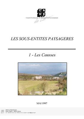 Les sous-entités paysagère - Les Causses - Mai 1997
