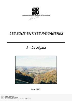 Les sous-entités paysagère - Le Ségala - Mai 1997