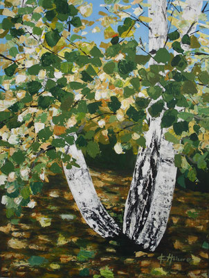 Birken - 2007 - Acryl auf Leinwand - 60x80