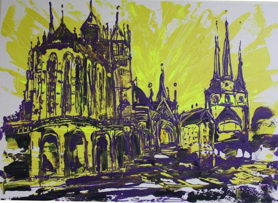 Dom gelb - 2011 - Acryl auf Leinwand - 50x70