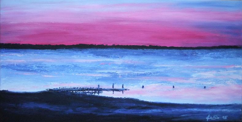 Pink Sunset - 2015 - Acryl auf Leinwand - 50x100