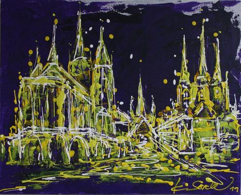 Dom lila - 2011 - Acryl auf Leinwand - 40x50