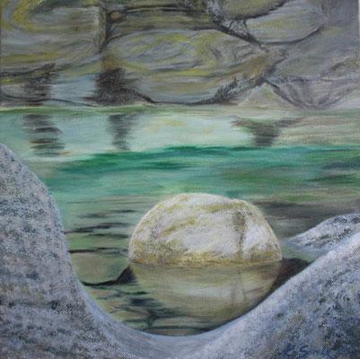 Stein - 2010 - Acryl auf Leinwand - 60x60 - verkauft
