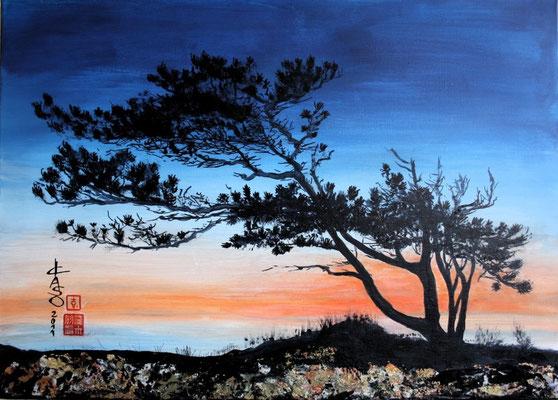 Kiefer - 2011 - Acryl auf Leinwand - 50x70 - verkauft