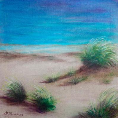 Dünengras - 2009 - Acryl auf Leinwand - 60x60 - verkauft
