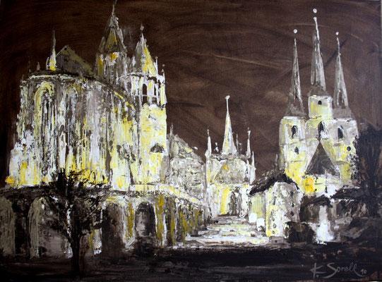 Dom abends - 2010 - Acryl auf Leinwand - 60x80 - verkauft