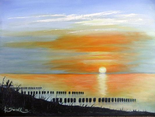 Ostsee Dunen - 2015 - Acryl auf Leinwand - 60x80 - verkauft